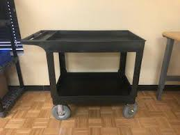 Uline Utility Cart With Pneumatic Wheels For Sale In Raleigh NC
