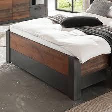 schlafzimmer komplett set berlin s 61 im industrial look matera anthrazit grau mit mix dekor