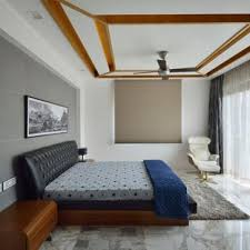 Trendy Marble Floor And White Bedroom Photo In Delhi With Walls