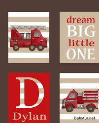 Fire Truck Art, Firetruck Art, Children's, Boys Nursery Art Prints ...