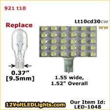 921 led bulb replacement lt10cd30cw or lt10cd30ww 12 volt led
