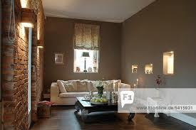 wand zimmer ziegelstein wohnzimmer