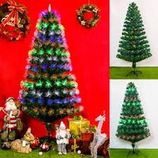 Image Is Loading Pre Lit Fiber Optic 4 8ft Artificial Christmas
