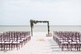 Beach Ceremony Brown Chilvari Chair Greenery Altar Decor Our Wedding 8191