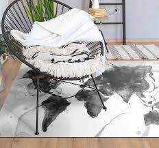 vinylteppich wohnzimmer schwarzes aquarell