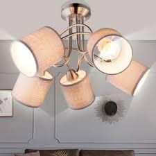 design decken strahler esszimmer leuchte küchen strahler textil schirm le grau globo 15185 5d