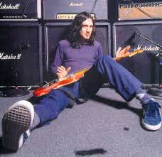John Frusciante Fender Showman Blackface Sunburst Strat Guitar Long Hair
