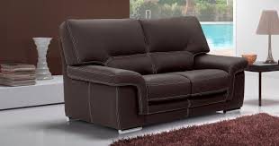 canapé 2 places en cuir aoste salon 3 2 buffle vachette cuir épais personnalisable sur