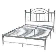 Adjustable Bed Frame For Headboards And Footboards by Queen Size Metal Platform Bed Frame With Headboard In Silver