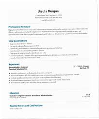 Administrative Assistant Resume Summary R8PF Entry Level