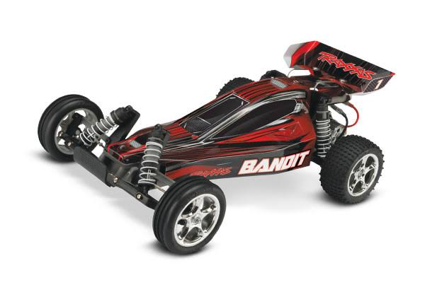 Traxxas Bandit Off-Road Buggy with TQ 2.4GHz Radio System - Black, 1/10 Scale