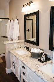 Pin By Carrie Cavanaugh On New House   Granite Bathroom, White ... Cheap Tile For Bathroom Countertop Ideas And Tips Awesome For Granite Vanity Tops In Modern Bathrooms Dectable Backsplash Custom Inches Only Inch Stunning Diy And Gallery East Coast Marble Costco Depot Countertops Lowes Home Menards Options Hgtv Top Mirror Sink Cabinets With Choices Design Great Lakes Light Fromy Love Design