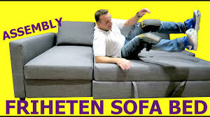 Friheten Corner Sofa Bed by Ikea Corner Sofa Bed Assembly Friheten Youtube