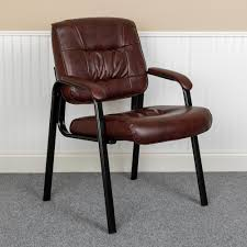 Carnegy Avenue Burgundy Faux Leather Side Chair