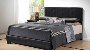 Black Leather Headboard King Size by Amazon Com Black U2013 King Size Modern Headboard Leather Look