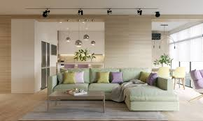 100 Interior Modern Homes Pastel Accents Over Expansive Light Wood In Two