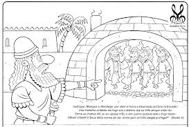 Outstanding Fiery Furnace Bible Coloring Page With Shadrach Meshach And Abednego