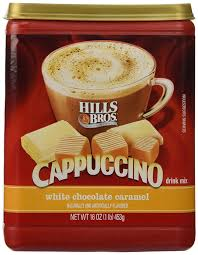 Amazon Hills Bros White Chocolate Caramel Cappuccino 16oz Container Pack Of 3 Brothers Grocery Gourmet Food