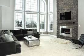 Tremendous Home Depot Electric Fireplace Decorating Ideas For Living Room Contemporary Design With Arched Window Black