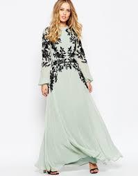 image 1 of asos lace placed kaftan maxi dress wardrobe