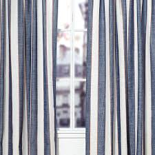 Tommy Hilfiger Curtains Cabana Stripe by Wide Window Curtains Marissa Wide Tailored Curtain Pair Aqua 100 X