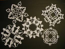 Paper Snowflakes 10 Steps with