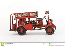 100 Antique Toy Fire Trucks Truck Model On White Background Stock Image Image Of