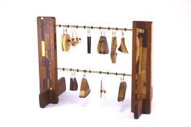 Earring Organizer Wood Stand EAR M O Sapelli
