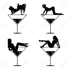 1 251 Girl In A Cocktail Glass Stock Illustrations Cliparts And