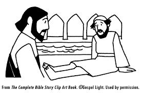 Jesus Heals Sick Coloring Pages