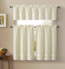 essential home window panels valance striped