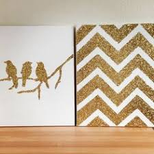 DIY Glitter Canvas Message For Directions