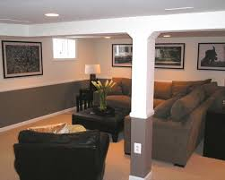 Hiding The Ducts And Pole Traditional Basement Small Remodeling Ideas Design Pictures Remodel
