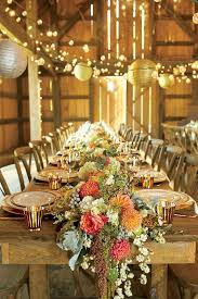Decoration Rustic Vintage Barn Wedding Table