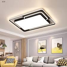 led einfache moderne decken le fernbedienung wohnzimmer schlafzimmer studie kreative beleuchtung rechteckigen wohnzimmer beleuchtung