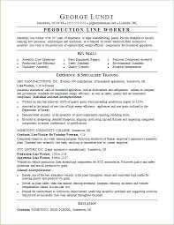 Production Worker Resume Sample For A Line Job Objective