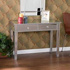 Pier One Sofa Table by Amazon Com Southern Enterprises Mirage Mirrored 2 Drawer Media