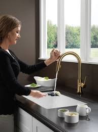 Delta Trinsic Faucet With Soap Dispenser by Delta 9159t Cz Dst Trinsic Single Handle Pull Down Kitchen Faucet