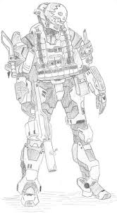 Printable Halo Reach Coloring Pages