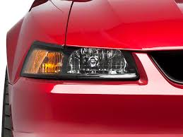 axial mustang black stock replacement headlights 49092 99 04 all