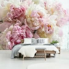 vlies fototapete schlafzimmer 3d effekt blumen rosa