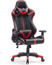 ERGONOMIC RED AND BLACK GAMING CHAIR