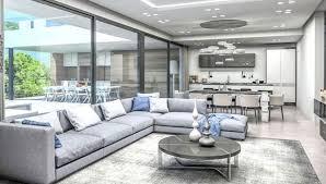 wohnzimmer einer neu gebauten luxusvilla euroholding