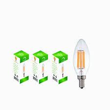 6watt led filament candelabra light bulbs 3 pack repalces 60 watt