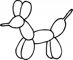 Adult Balloon Animal Coloring Page Clip Art Pages Of Balloons Printable