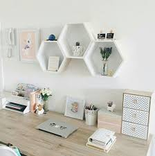 Home Decoration Deco Office Minimalist Work Minimal Decoracion De Espacio Kmart DecorHexagon ShelvesBedroom