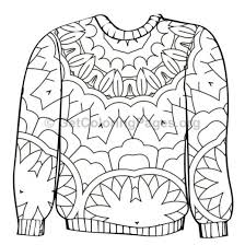 Ugly Sweater Coloring Pages 6