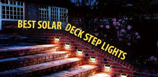Solar Lights For Deck Stairs by Best Solar Deck Step Lights Ledwatcher