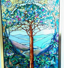 Qvc Christmas Tree Hugger by Tree Of Life Suncatcher Louis C Tiffany Landscape Stained Glass