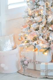 Kohls Christmas Tree Toppers by Blush Pink And White Flocked Vintage Inspired Christmas Tree By
